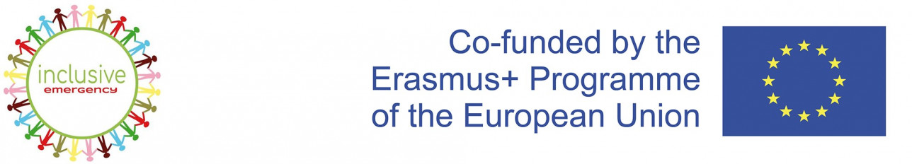 Inclusive Emergency and Erasmus+ logo